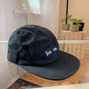 'Sue Me' Hat - play on words with Supreme